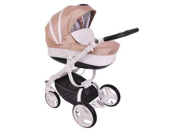 Детская коляска LONEX COSMO 3 В 1 (бежевый/белый)