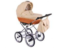 Детская коляска LONEX RETRO ECCO LEDER 2 В 1 (кремовый)