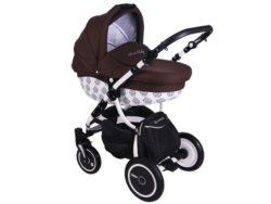 Детская коляска LONEX SWEET BABY 2 В 1 (темно-коричневый)