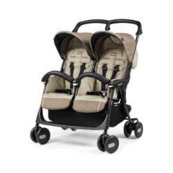 Прогулочная коляска для двойни Peg-Perego Aria Shopper Twin (Бежевый)