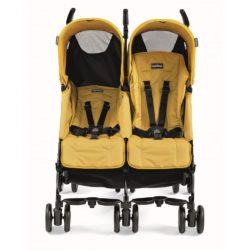 Коляска-трость для двойни Peg-Perego Pliko Mini Twin Classico (Желтый)