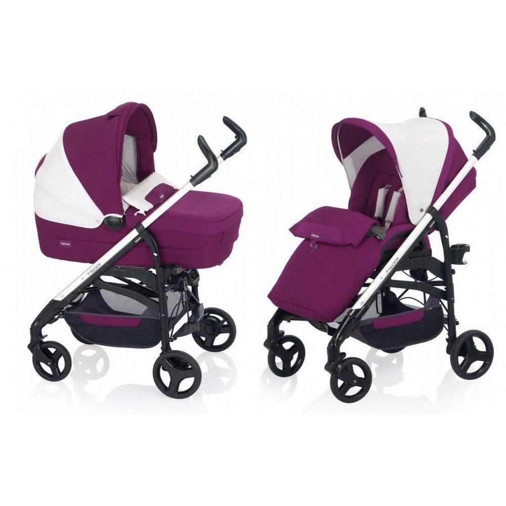 Детская коляска Inglesina Trilogy System 3 в 1 (бело-розовый)