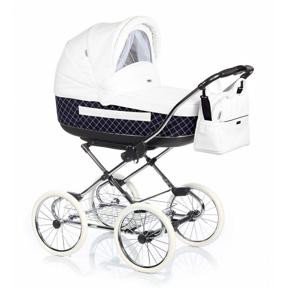 Детская коляска Roan Marita Prestige 2 в 1 (синий/белый)