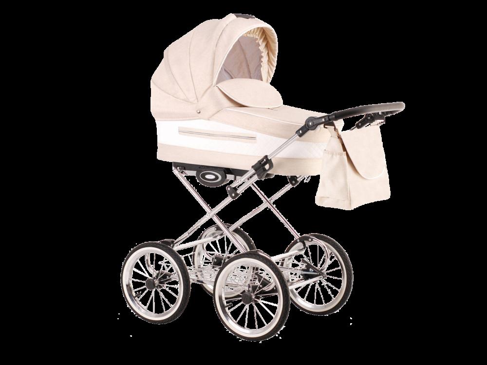 Детская коляска LONEX CLASSIC ELEGANTO LEN 3 В 1 (бежевый)