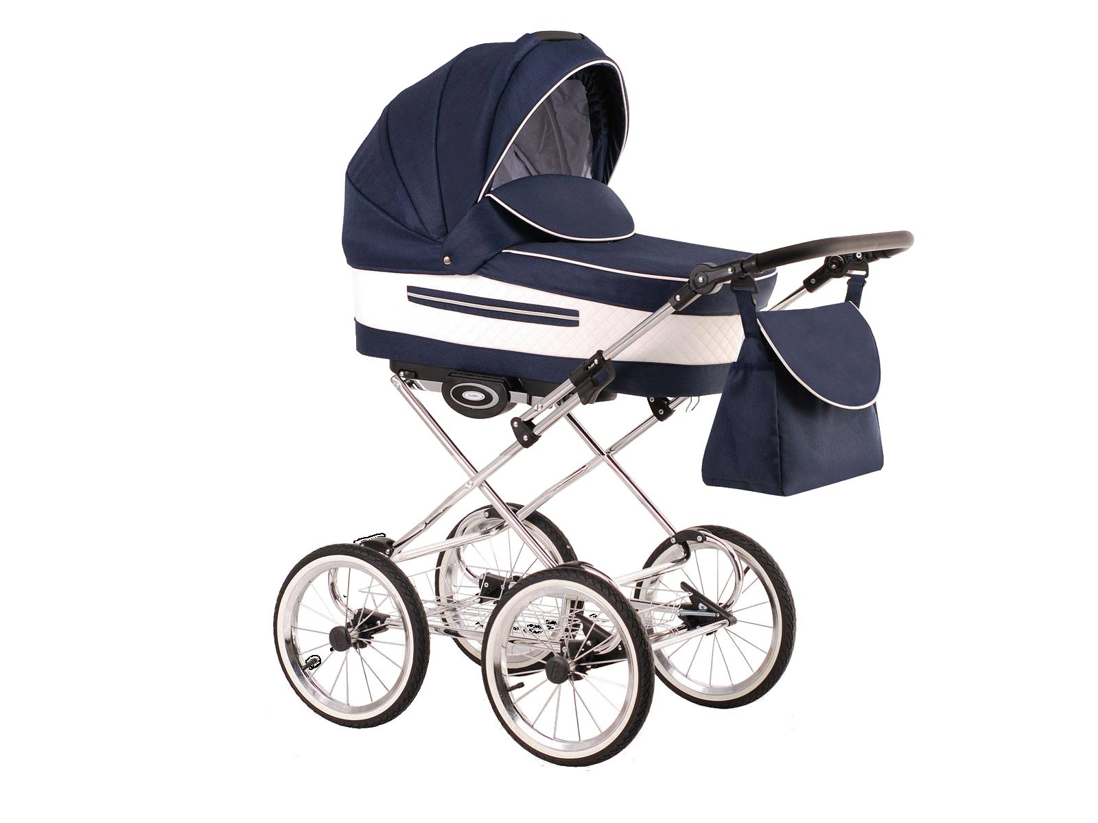 Детская коляска LONEX CLASSIC ELEGANTO LEN 2 В 1 (синий)