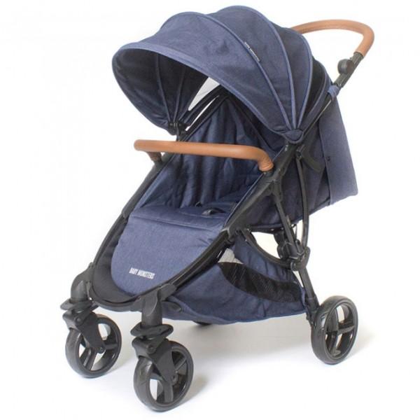 Детская коляска Baby Monsters Compact 3 в 1 (синий)