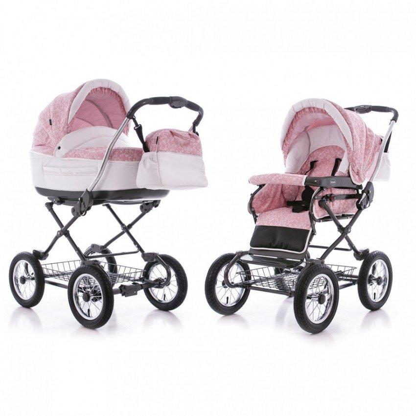 Детская коляска Roan Marita Prestige 2 в 1 (розовый)