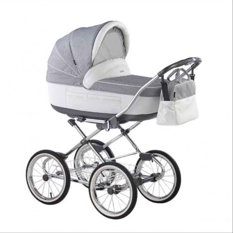 Детская коляска Roan Marita Prestige 2 в 1 (серый/белый)