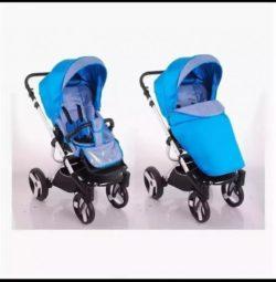 Детская коляска LONEX SANREMO 2 В 1 (голубой)