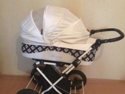 Детская коляска LONEX BERGAMO 2 В 1 (белый)