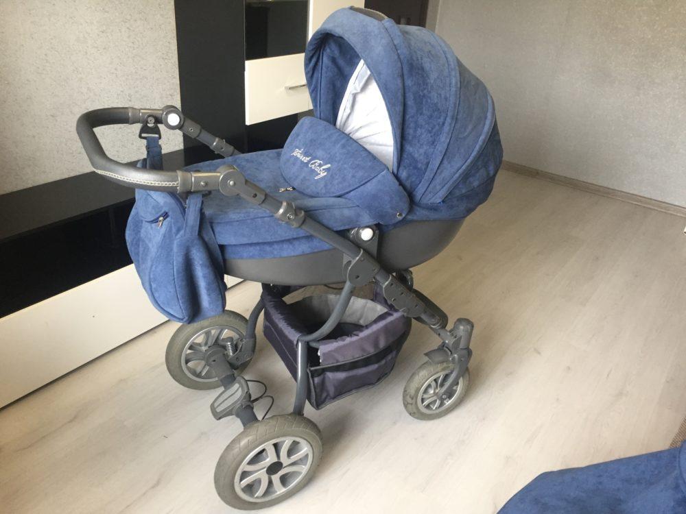 Детская коляска LONEX SWEET BABY PASTEL 2 В 1 (синий)
