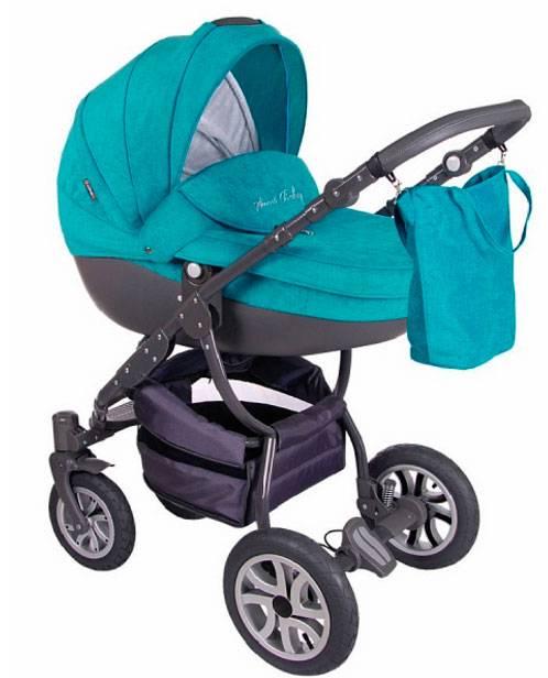 Детская коляска LONEX SWEET BABY PASTEL 2 В 1 (бирюзовый)