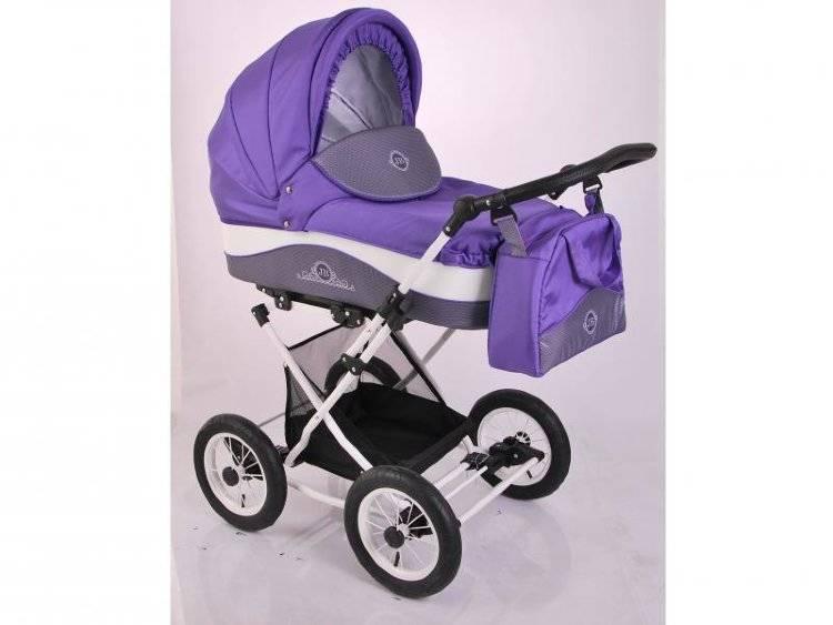 Детская коляска LONEX JULIA BARONESSA NEW 3 В 1 (фиолетовый)