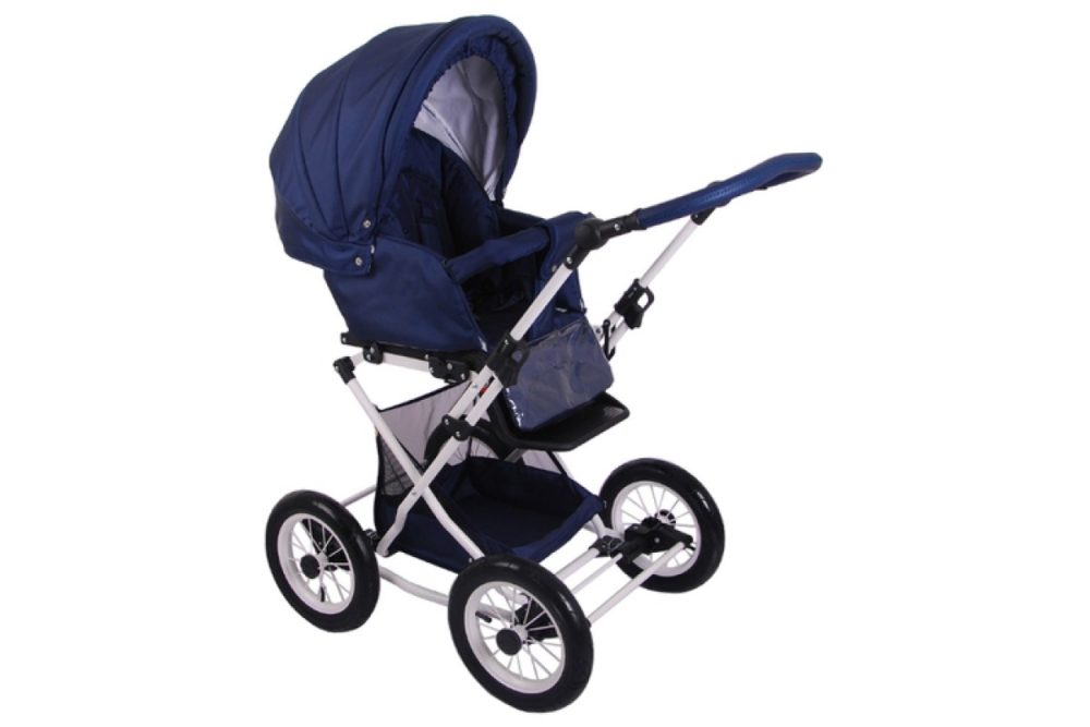 Детская коляска LONEX JULIA BARONESSA NEW 3 В 1 (синий)