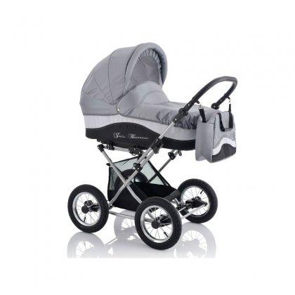 Детская коляска LONEX JULIA BARONESSA NEW 3 В 1 (серый)