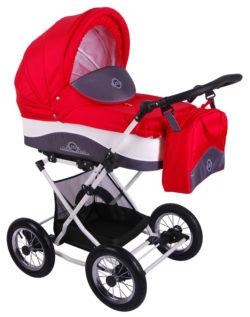 Детская коляска LONEX JULIA BARONESSA NEW 3 В 1 (красный)