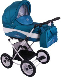 Детская коляска LONEX JULIA BARONESSA NEW 3 В 1 (бирюзовый)