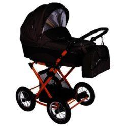 Детская коляска LONEX CARROZZA 3 В 1 (черный/красный)