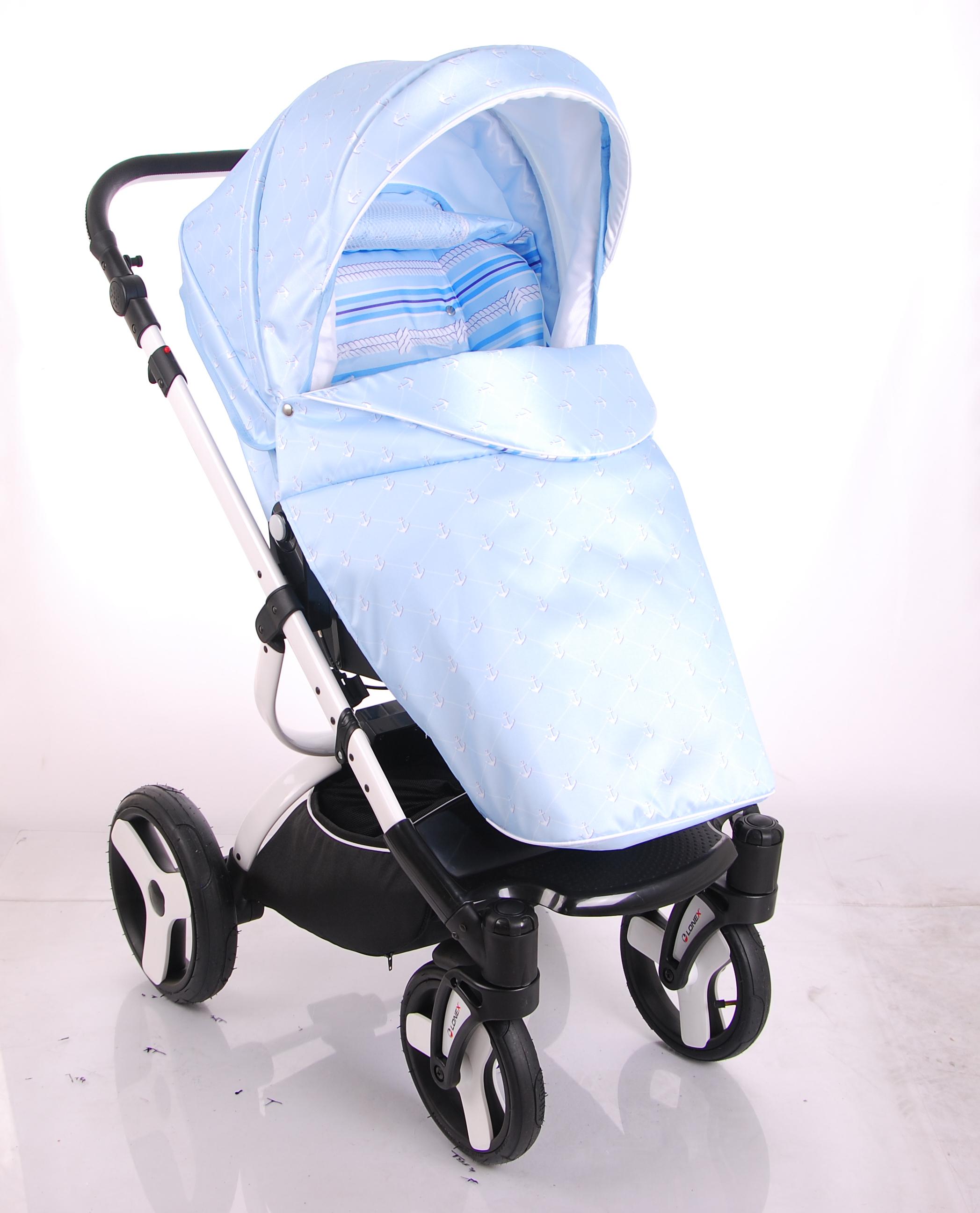 Детская коляска LONEX SANREMO 3 В 1 (голубой)