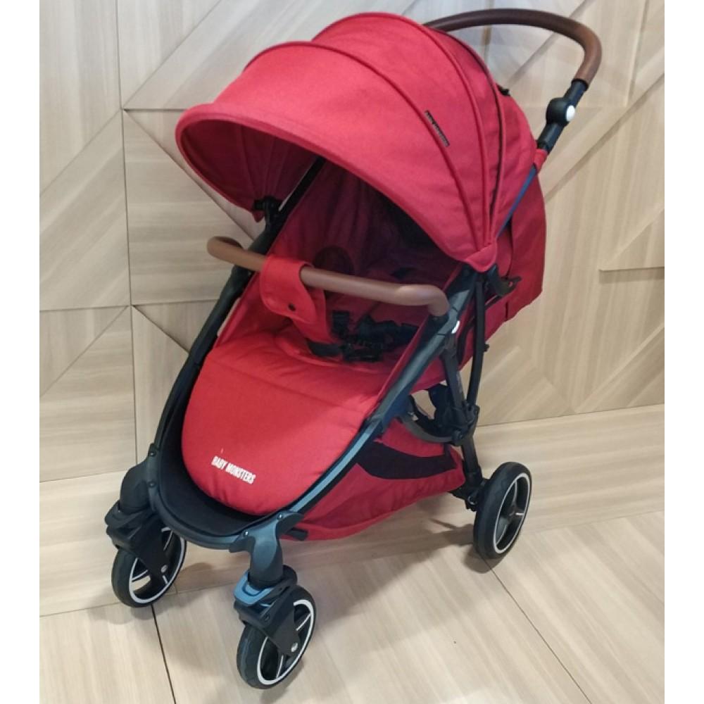 Детская коляска Baby Monsters Compact 3 в 1 (красный)