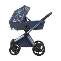 Детская коляска LONEX EMOTION XT 3 В 1 (синий)