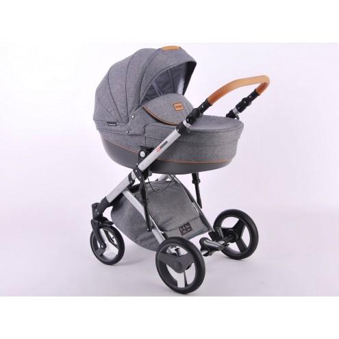 Детская коляска LONEX COMFORT PRESTIGE (LEN) 3 В 1 (темно-серый)