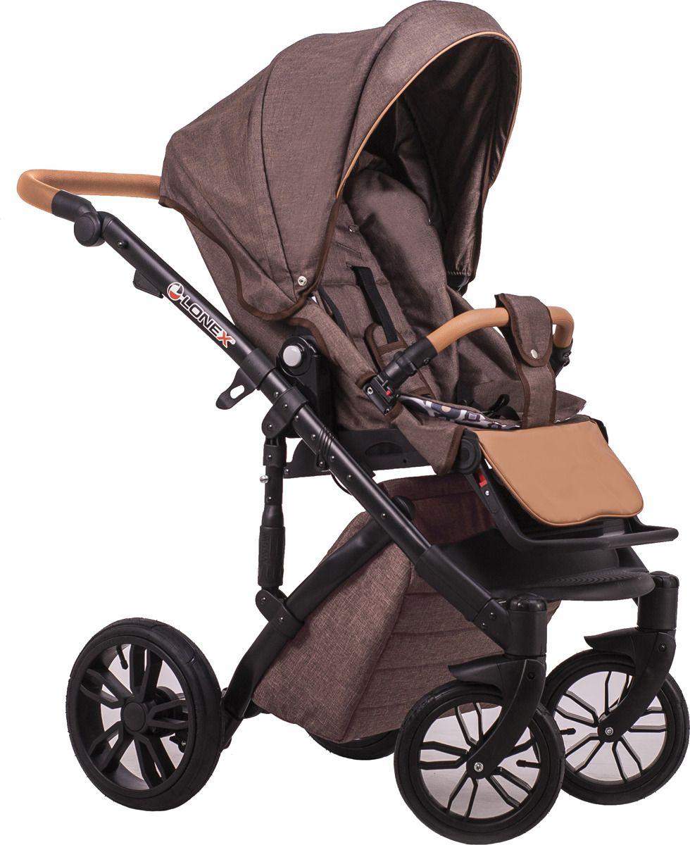 Детская коляска LONEX COMFORT PRESTIGE (LEN) 3 В 1 (коричневый)
