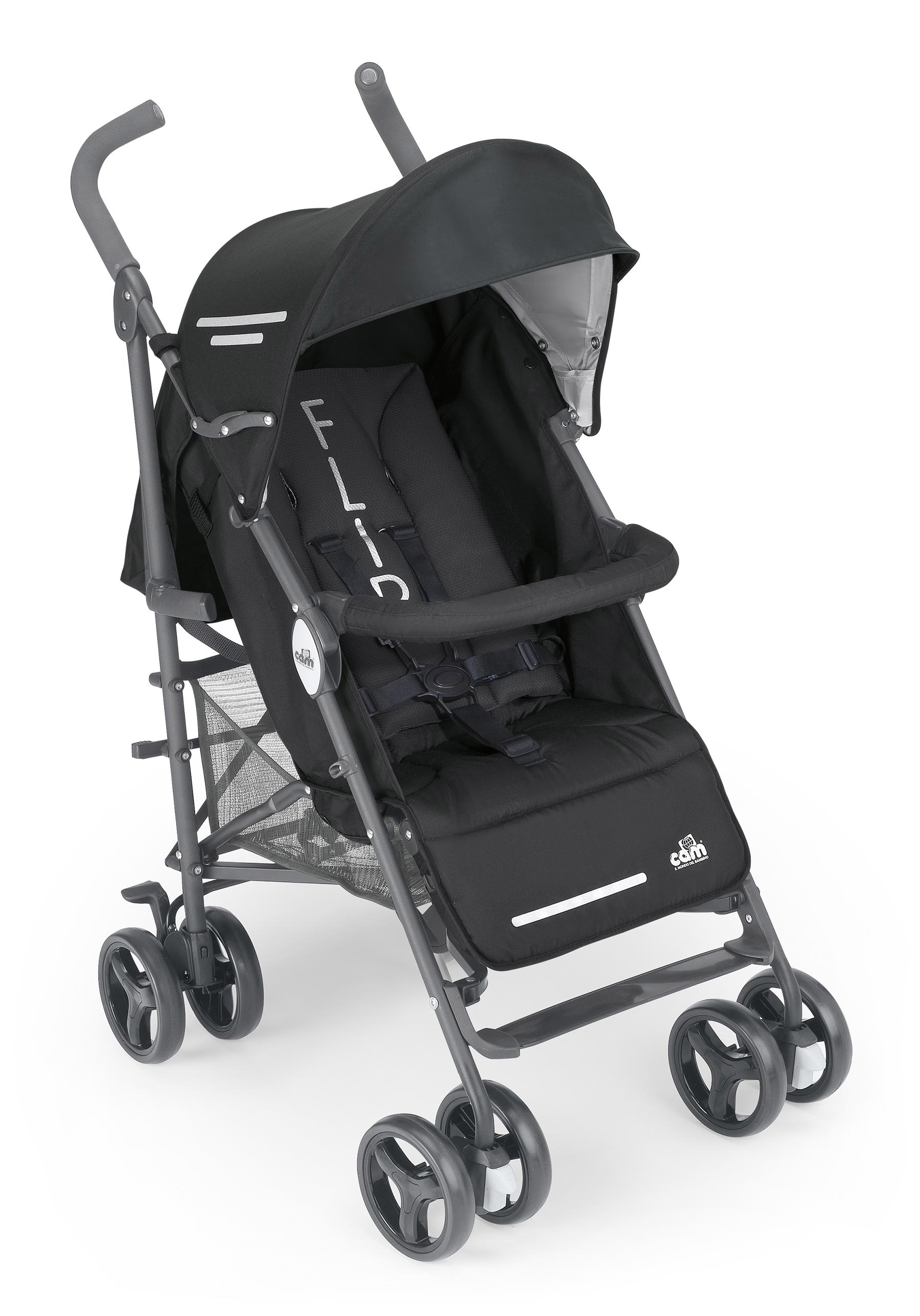 Детская коляска Cam Flip трость (черный)