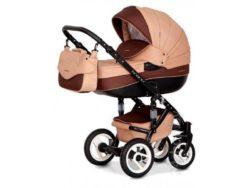 Детская коляска Riko brano 3 в 1 (Бежевый/коричневый)