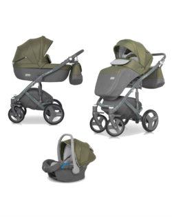 Детская коляска Riko Vario 2 в 1 (Серый/зеленый)