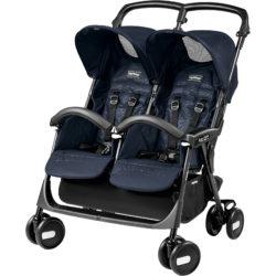 Прогулочная коляска для двойни Peg-Perego Aria Shopper Twin (Синий)