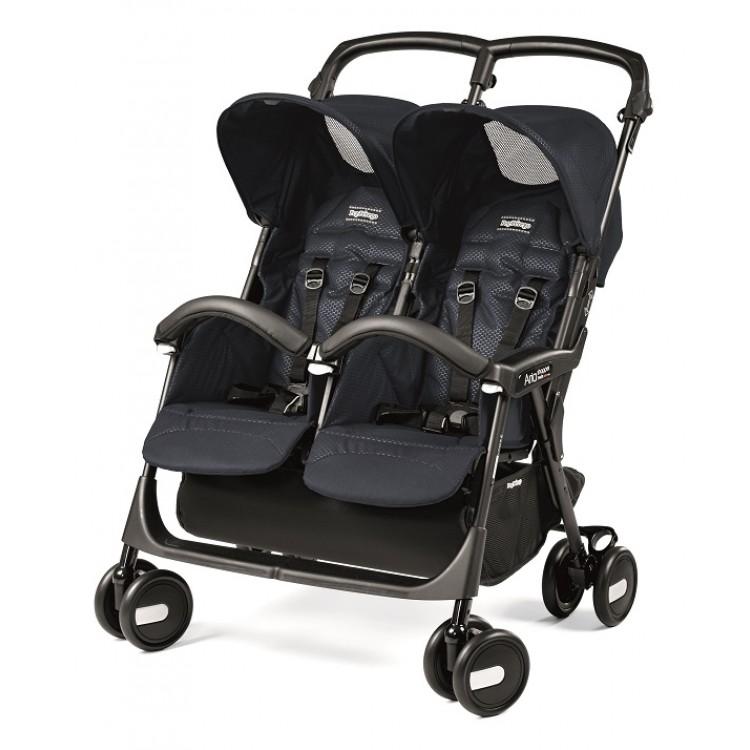 Прогулочная коляска для двойни Peg-Perego Aria Shopper Twin (Черный)