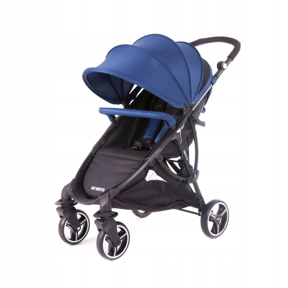 Детская коляска Baby Monsters Compact (синий)