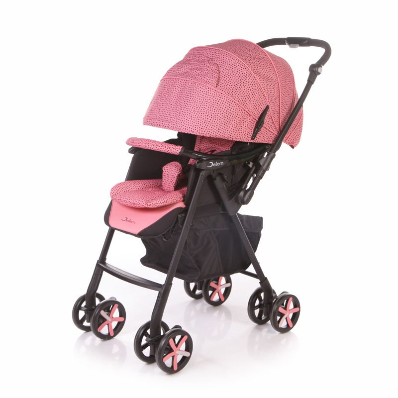 Коляска прогулочная Jetem Graphite (розовый)
