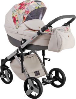 Детская коляска LONEX COMFORT CARRELLO 2 В 1 (Серо-бежевый)