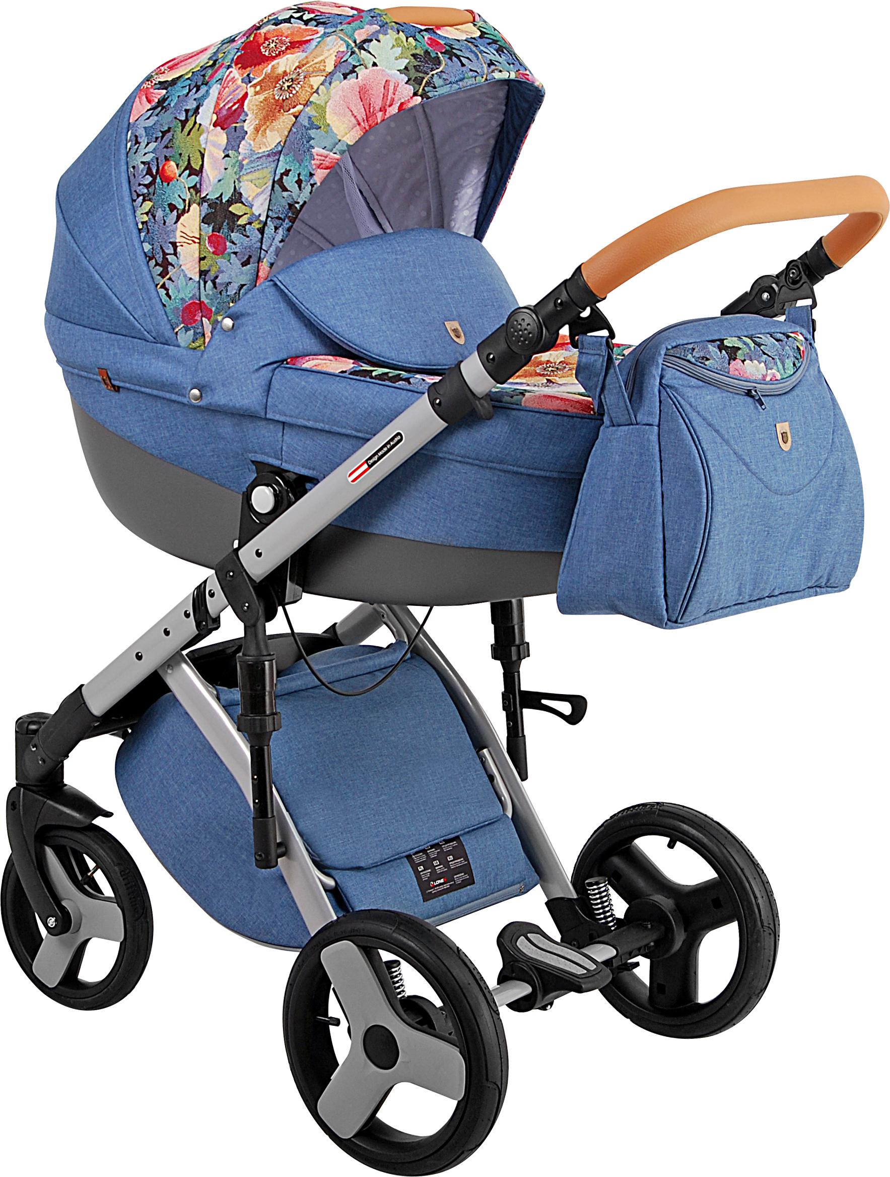 Детская коляска LONEX COMFORT CARRELLO 2 В 1 (Голубой)