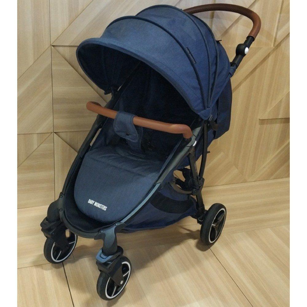 Детская коляска Baby Monsters Compact 2 в 1 (синий)