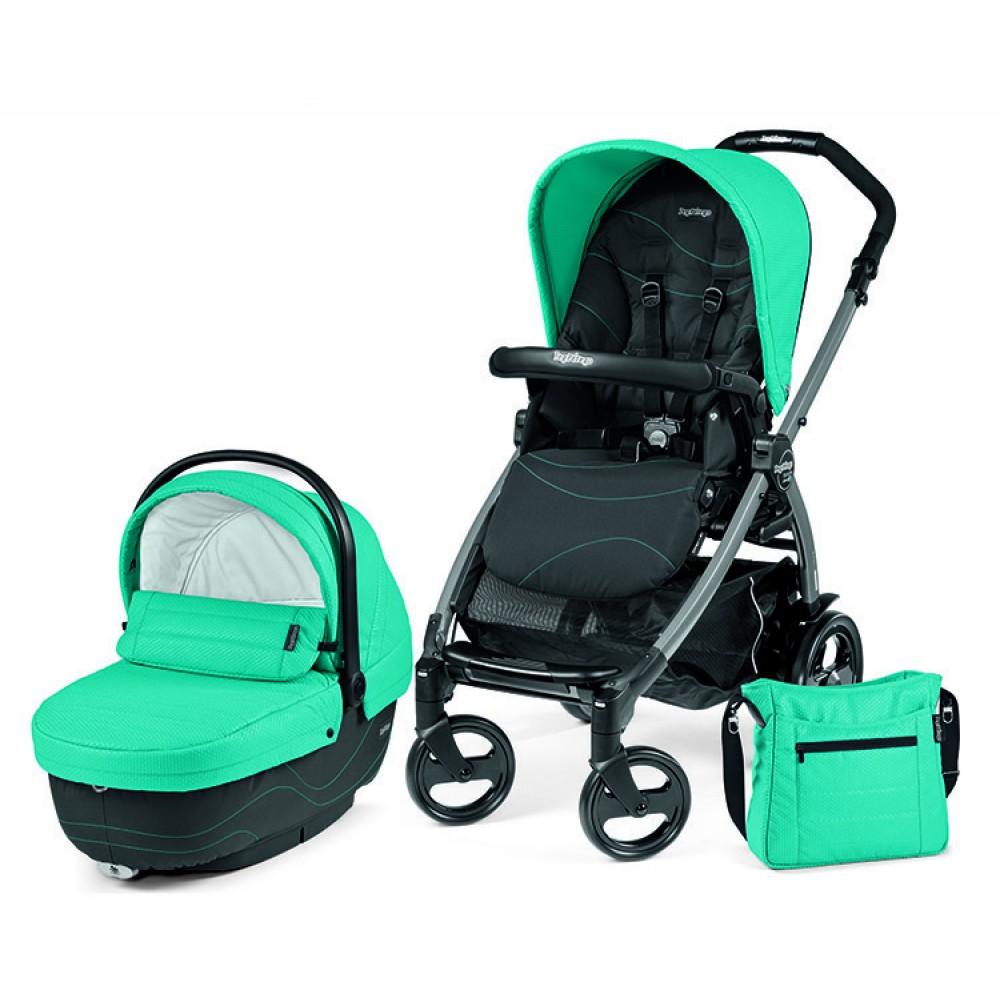 Детская коляска Peg-Perego Book 51 XL Modular 2 в 1 (Бирюзовый/черный)