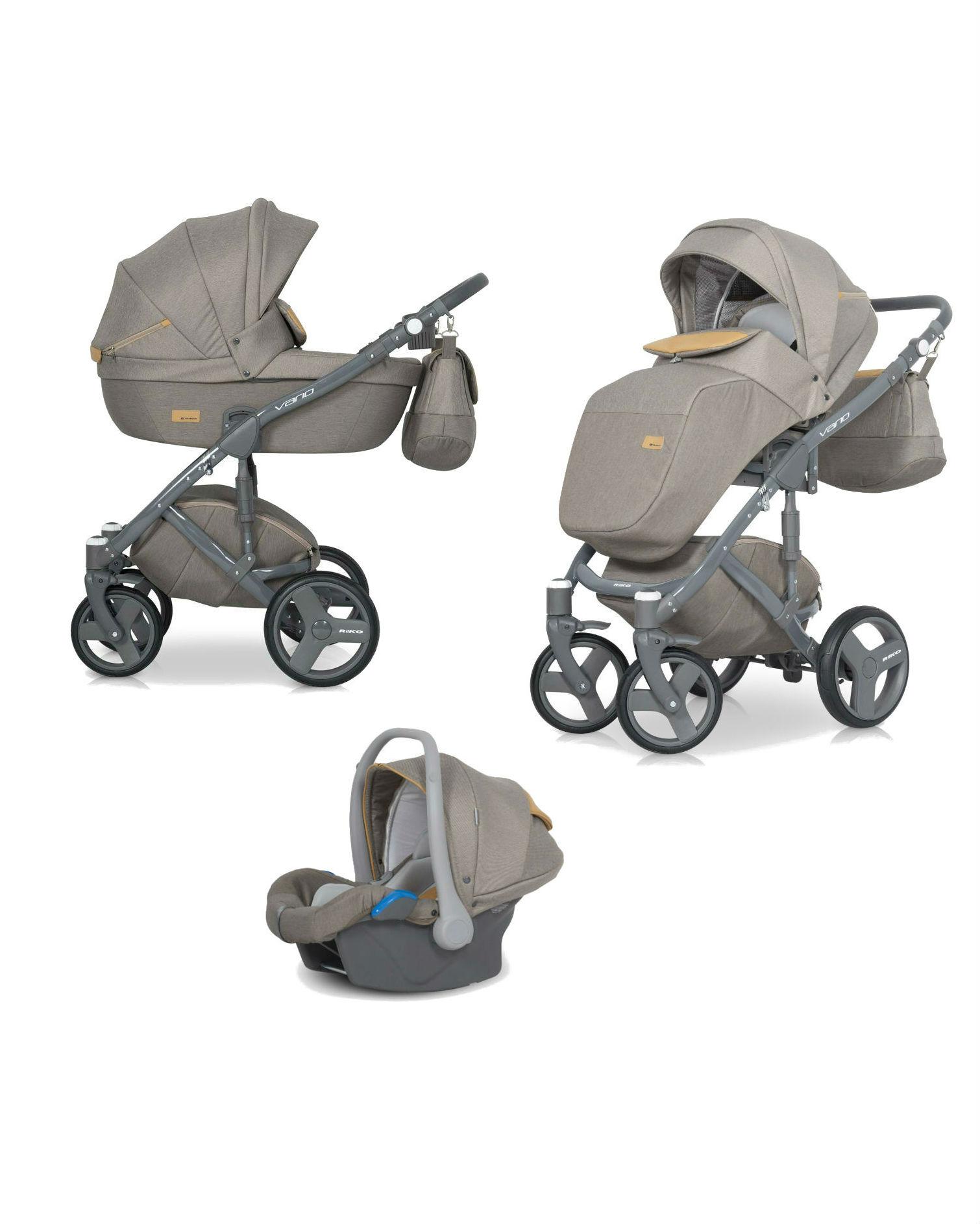 Детская коляска Riko Vario 3 в 1 (Бежевый)