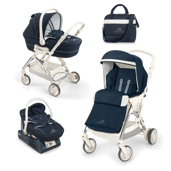 Детская коляска Cam Fluido 2 в 1 (серый/синий)