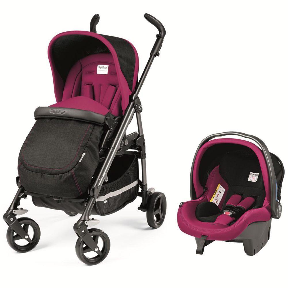 Детская коляска Peg-Perego Si Switch (Черный/розовый)