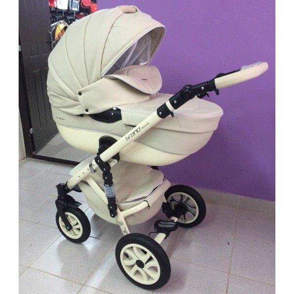Детская коляска Riko Brano 100% eco 2 в 1 (Бежевый)