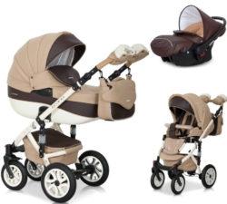 Детская коляска Riko brano ecco 3 в 1 (Бежевый/коричневый)