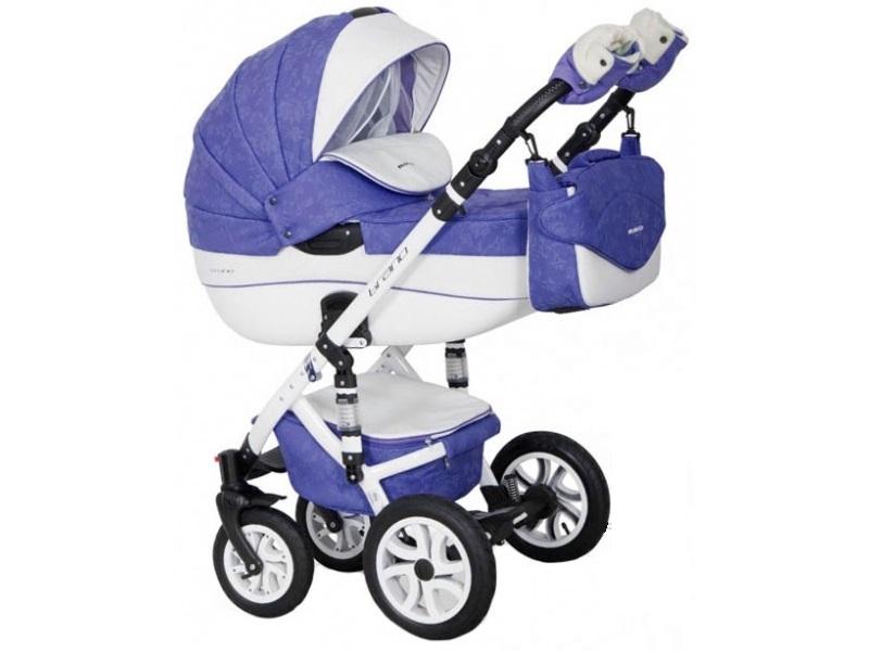 Детская коляска Riko brano ecco 3 в 1 (Светло-синий/белый)