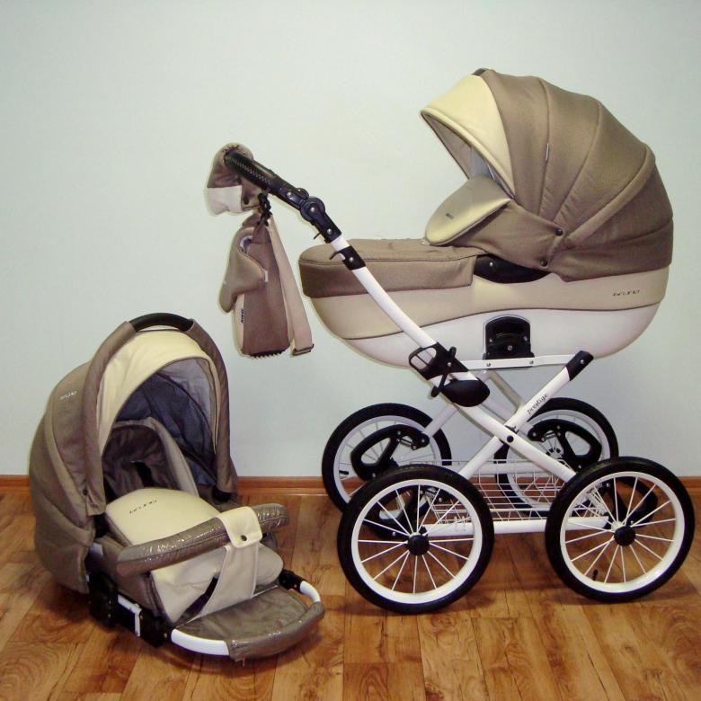 Детская коляска Riko Brano Ecco Prestige 2 в 1 (Бежевый/белый)