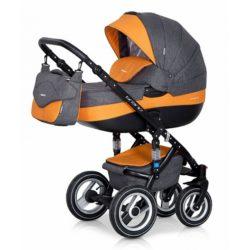 Детская коляска Riko brano 3 в 1 (Серый/оранжевый)