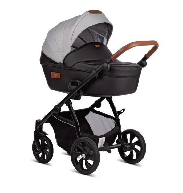 Детская коляска Tutis Aero 2 в 1 New 2019 №112 (черный-серый) кожа
