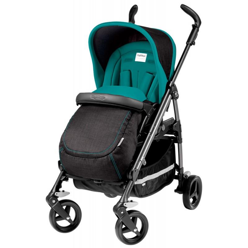 Детская коляска Peg-Perego Si Switch (Черный/бирюзовый)