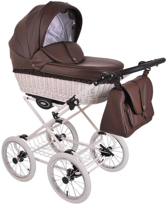 Детская коляска LONEX RETRO ECCO LEDER 2 В 1 (коричневый)