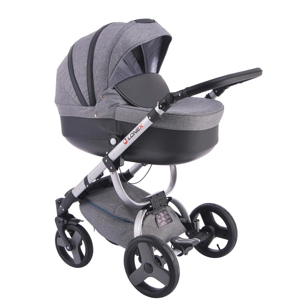 Детская коляска LONEX COSMO 2 В 1 (серый)